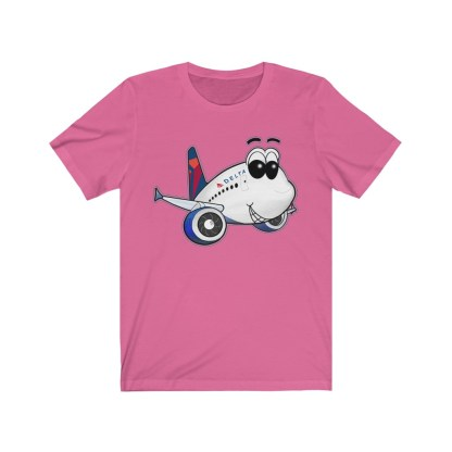 airplaneTees Delta Smiles Airbus Tee – Unisex Jersey Short Sleeve 1
