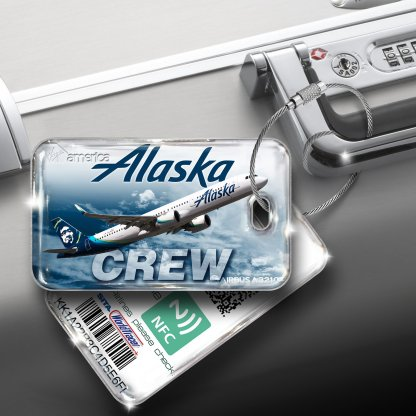 airplaneTees Alaska Airlines Luggage Tag A321NEO 1