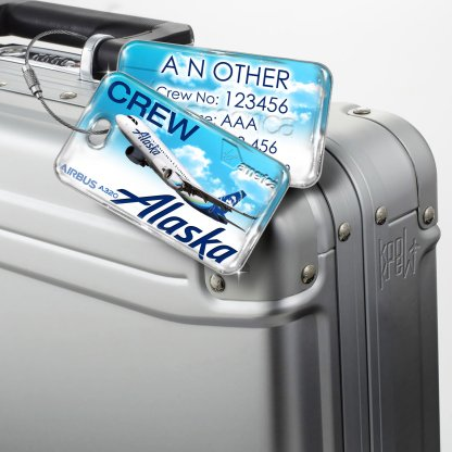 airplaneTees Alaska Airlines Luggage Tag A320 1