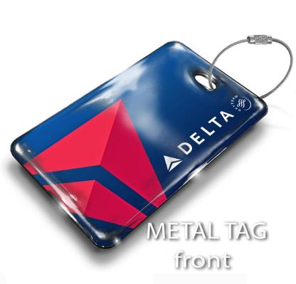 airplaneTees Delta Airlines Logo Blue Luggage Tag 1