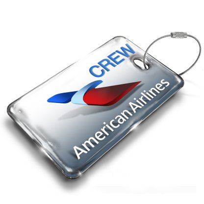 airplaneTees American Airlines Logo Luggage Tag 2 5