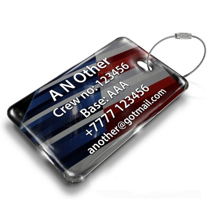 airplaneTees Republic Airline E170 American Eagle Luggage Tag 6