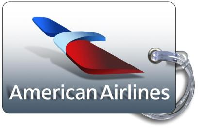 airplaneTees American Airlines Logo Luggage Tag 2 3
