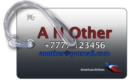 airplaneTees American Airlines Logo Luggage Tag 2 4