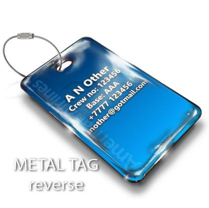 airplaneTees American Airlines Logo Luggage Tag - Landscape 2