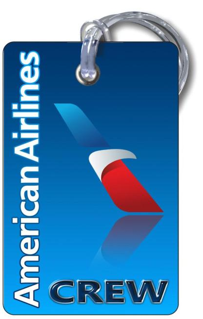 airplaneTees American Airlines Logo Luggage Tag - Landscape 3