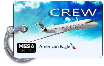 airplaneTees Mesa Airlines American Eagle CRJ 900 Luggage Tag 5