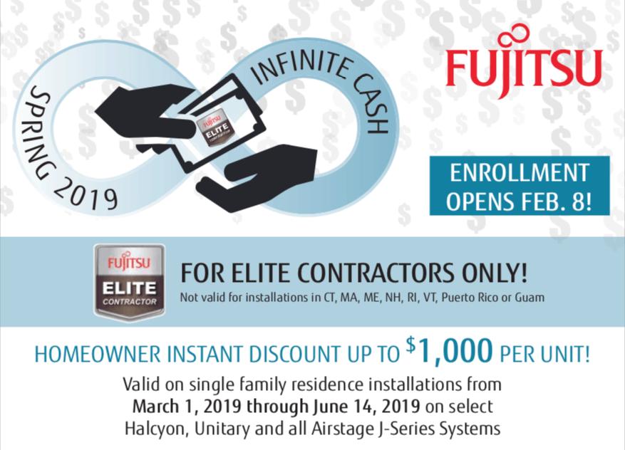 Spring 2019 Infinite Cash Discount Program – Fujitsu