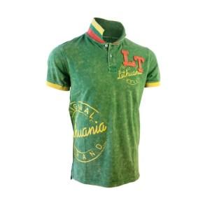 Žali polo marškinėliai LITHUANIA