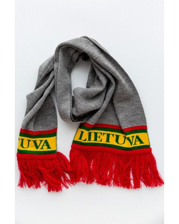 Lietuviškos atributikos šalikas LIETUVA