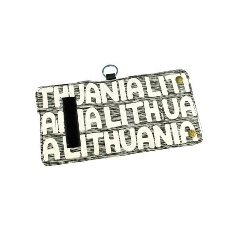Piniginė LITHUANIA balta/pilka