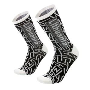Vyriškos kojinės LITHUANIA juoda/balta