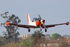 Adopting a flat landing attitude...(Emilio Sanni)