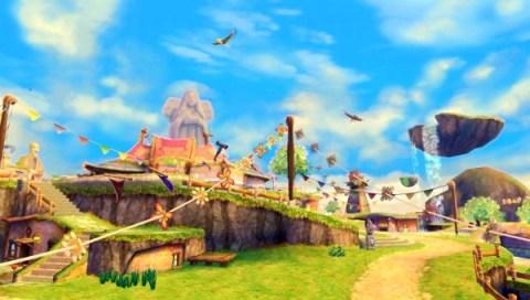 The main hub of Skyward Sword