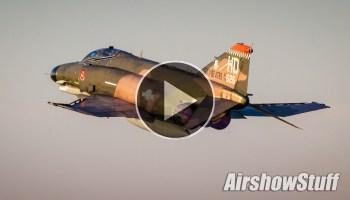 F-4 Phantom II Twilight Takeoff - EAA AirVenture 2015