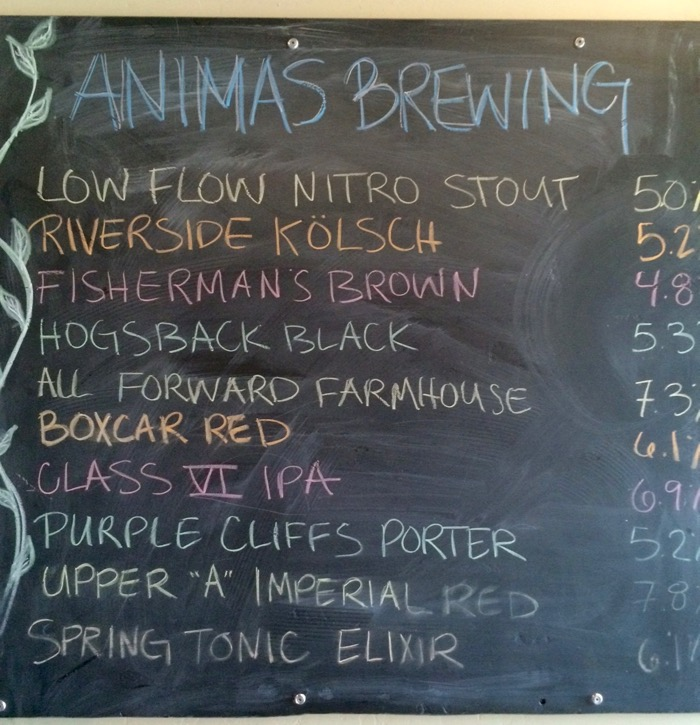 animas brewing beer list