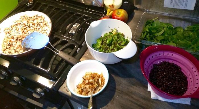 cooking veggies