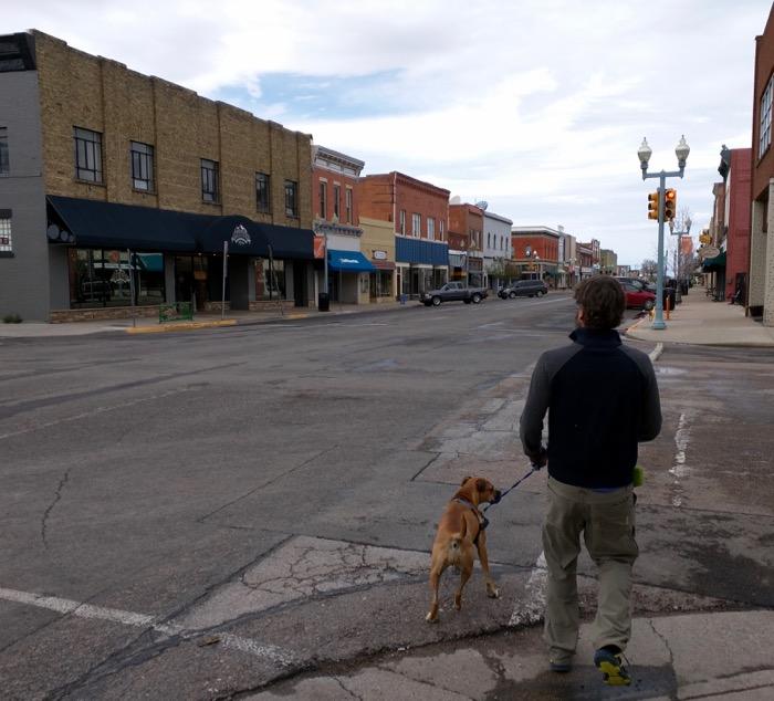laramie downtown dog walk