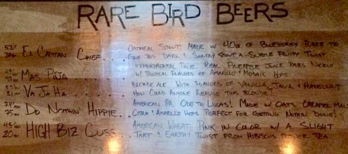 rare bird brewery traverse city beer list