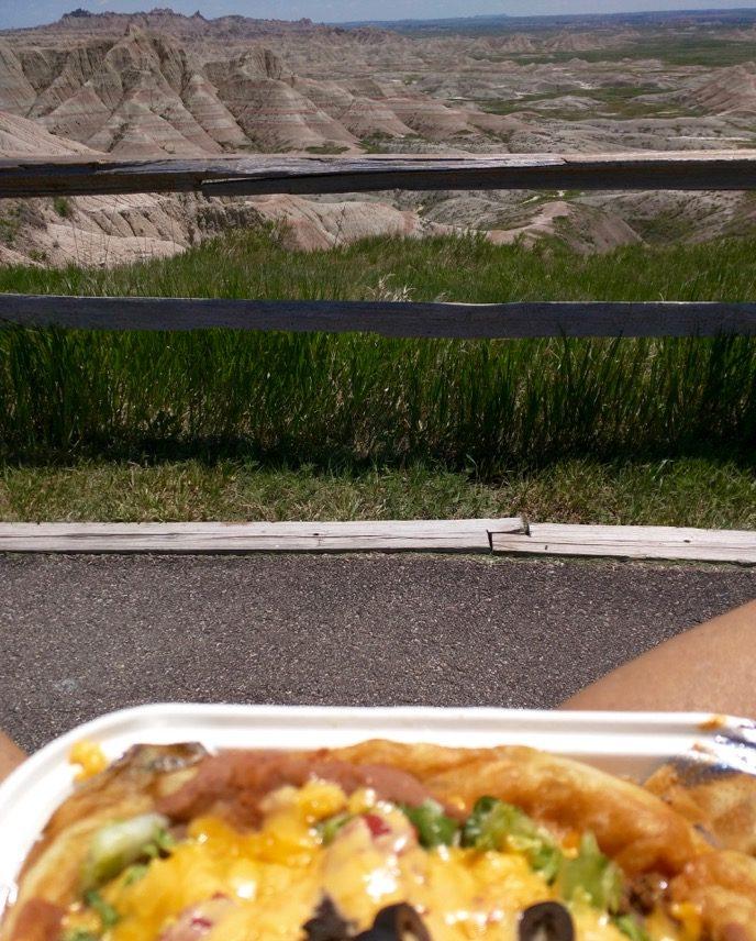 sioux indian taco at badlands national park