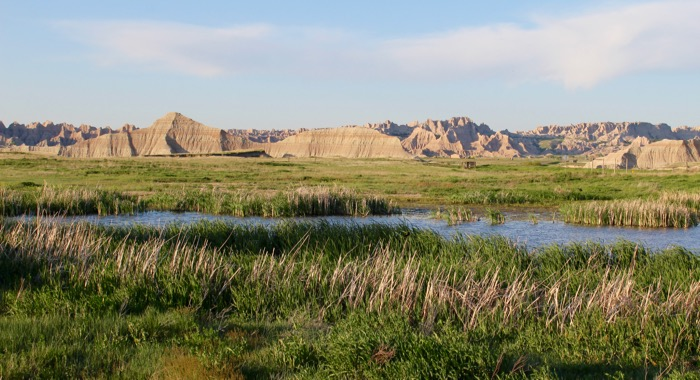 badlands view from campground interior sd