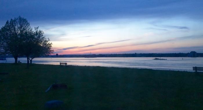 sunset on st marys river
