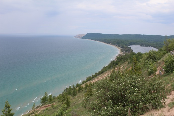 lake michigan from empire bluffs