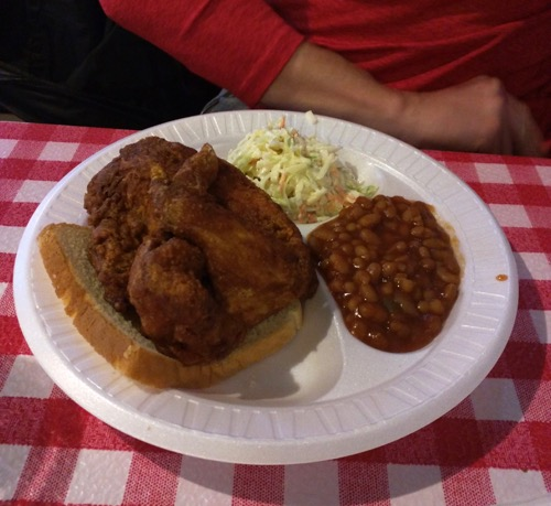 gus's fried chicken plate