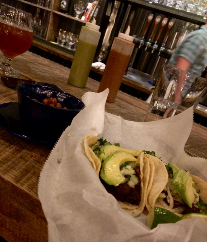 tacos at lazarus brewing