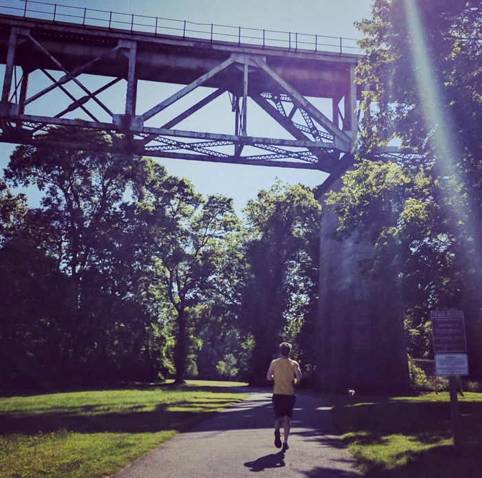 Running the Shelby Bottoms Greenway