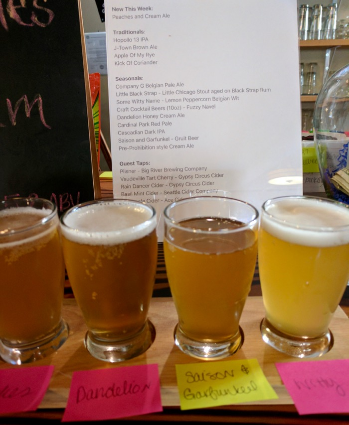 johnson city brewing co flight