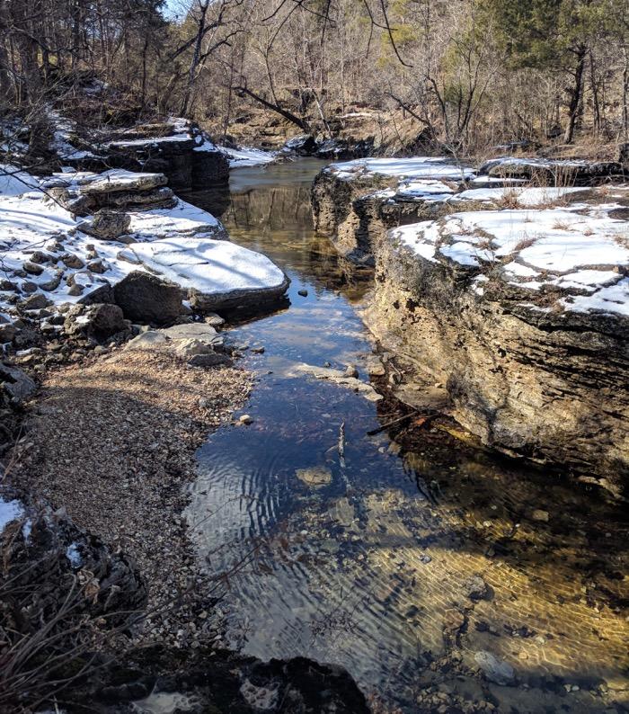 creek on coy bald trail