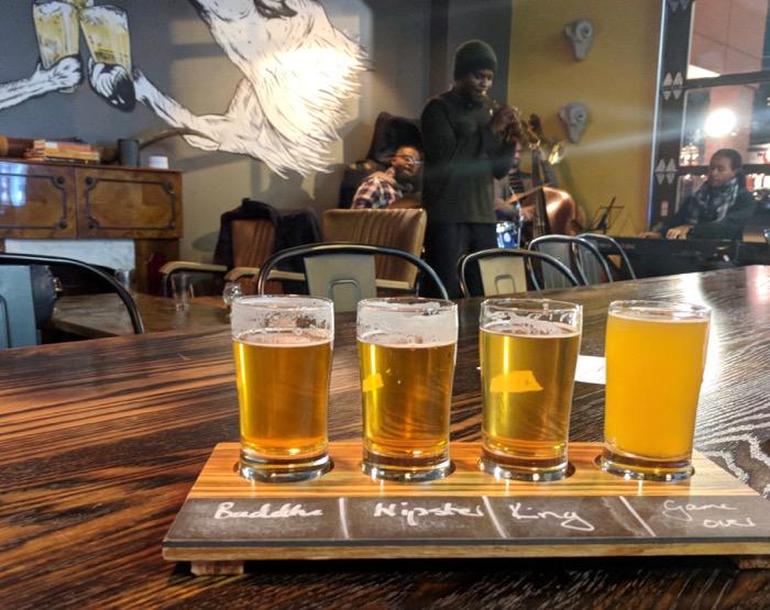 beer flight at beer study durham