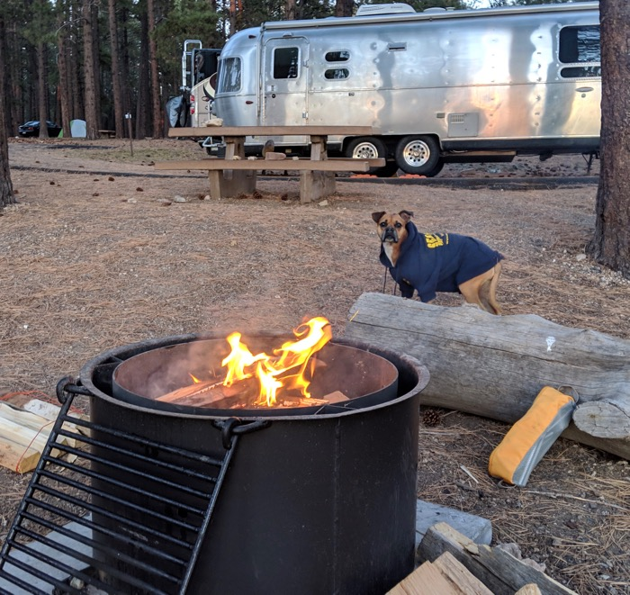 Grand Canyon campsite fire