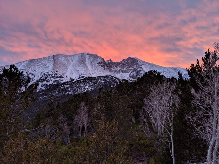 Sunset at Great Basin National Park