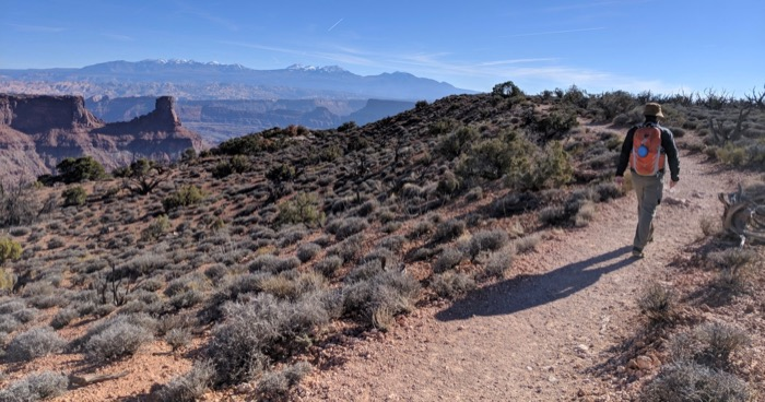 east rim trail at dead horse point state park