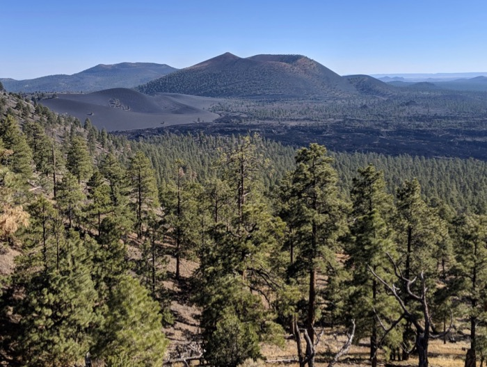 view of Sunset Crater from O'Leary Trail