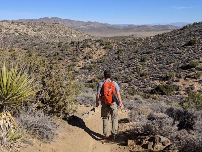 hiking Lost Horse Mine trail