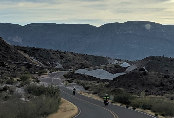 motorcyclists in big bend