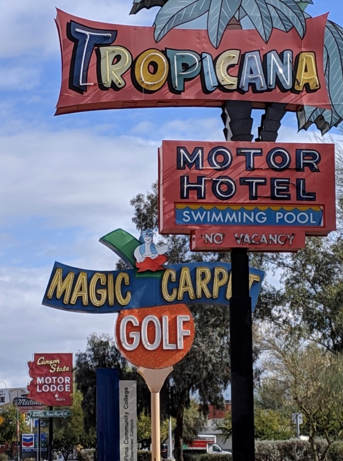 neon signs on Tucson's Miracle Mile