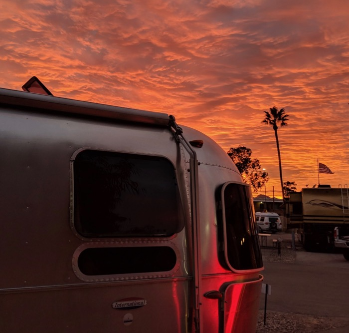 sunset Airstream in Tucson