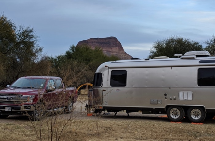 Airstream at Big Bend Cottonwood Campground