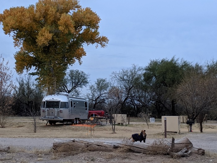Airstream at Big Bend Cottonwood Campground
