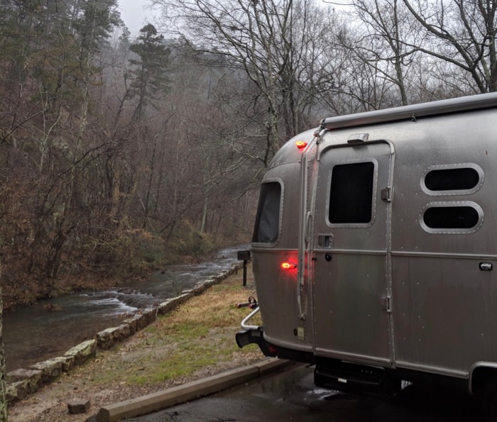 airstream at gulpha gulch campground hot springs national park