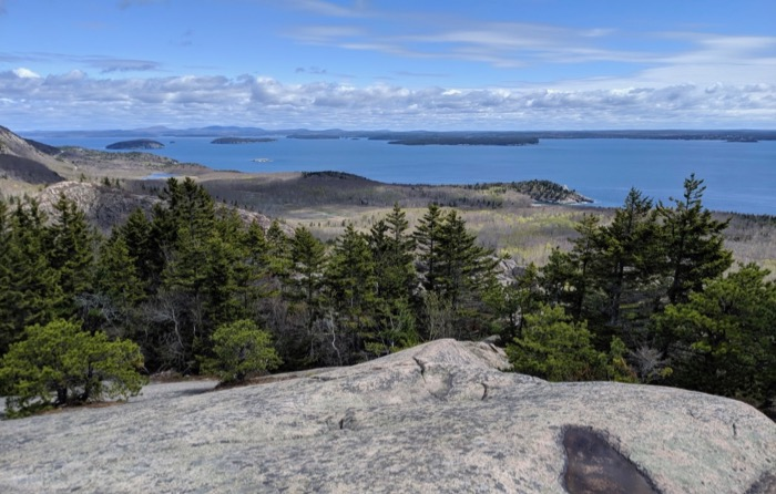 view from beehive trail acadia