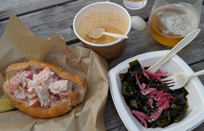 lobster roll at peekytoe provisions