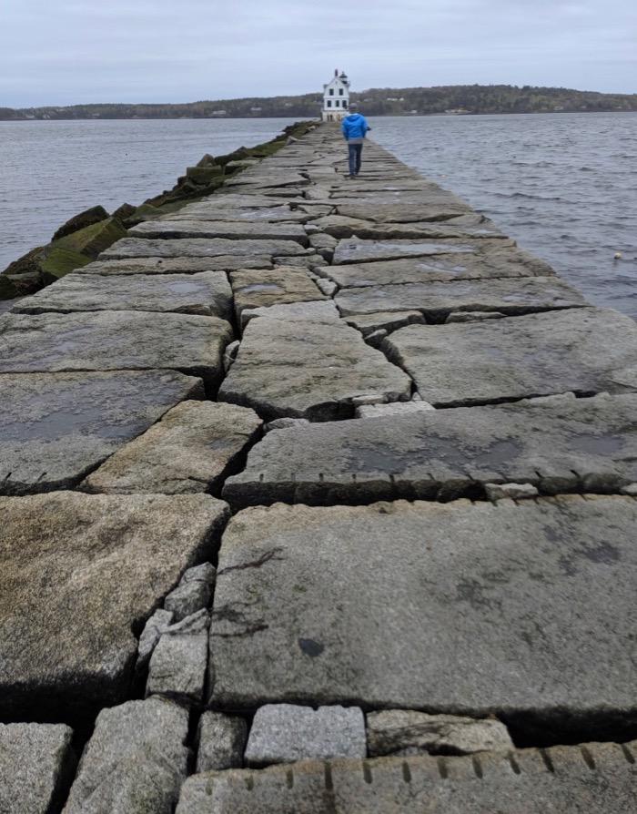 Rockland Breakwater granite jetty