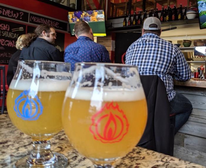 Blaze Brewing beers at Kurafuto in Camden