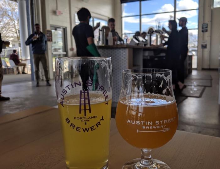 beers at Austin Street Brewery