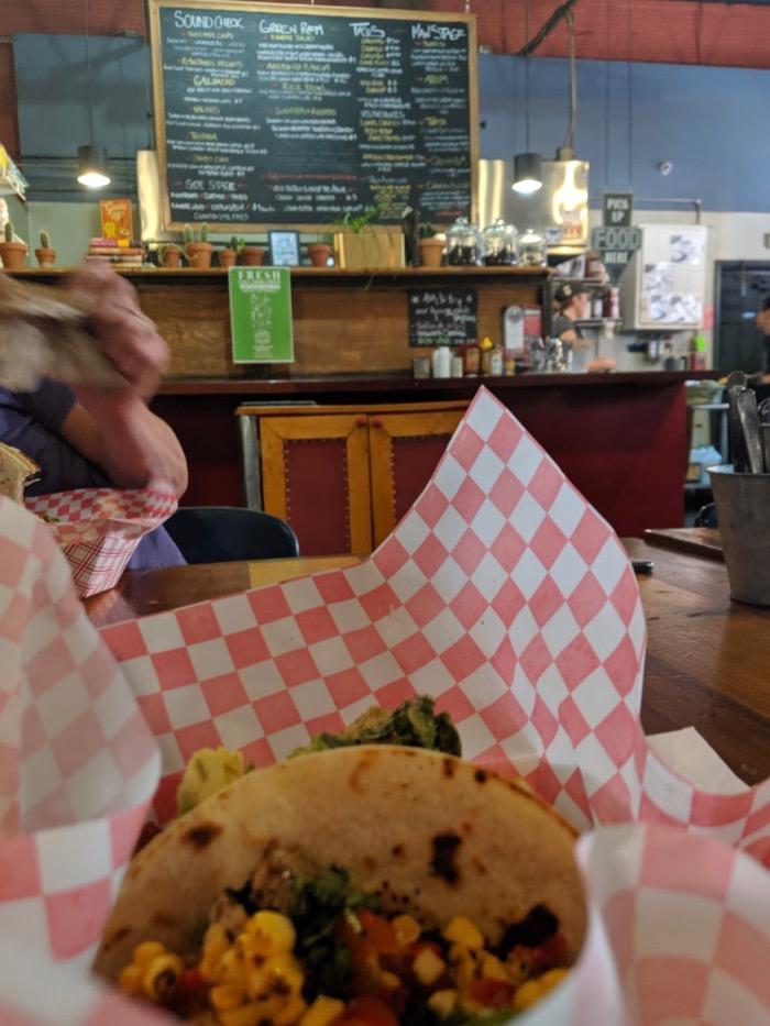 tacos at Grey Eagle